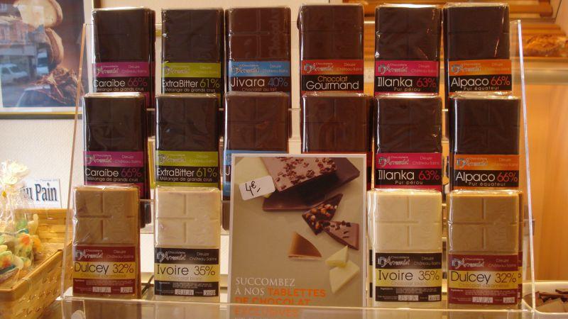 La nouveauté du moment : les tablettes de chocolat fabrication maison